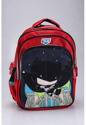 DC Comics red JUSTICE LEAGUE TROLLEY HOLDER SCHOOL BAG 56681KCFE4004BGS_1