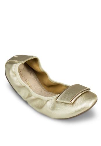 Genesis 金飾可折疊平底鞋, 女鞋esprit 會員卡, 鞋