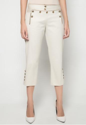 Dolce & Gabbana grey Button Detail Cropped Pants DA093AA90TRDPH_1