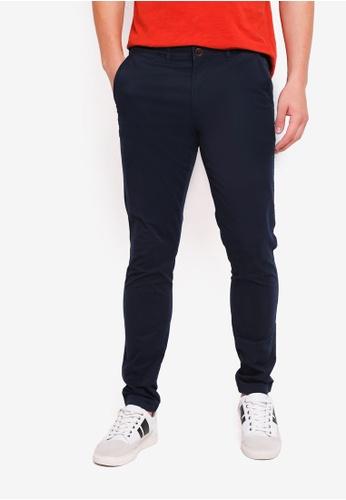 Abercrombie & Fitch 海軍藍色 修身長褲 62D11AA6F65880GS_1