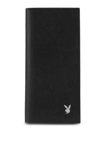 Playboy black Playboy Bi-Fold Long Wallet PL371AC0SMCJMY_1