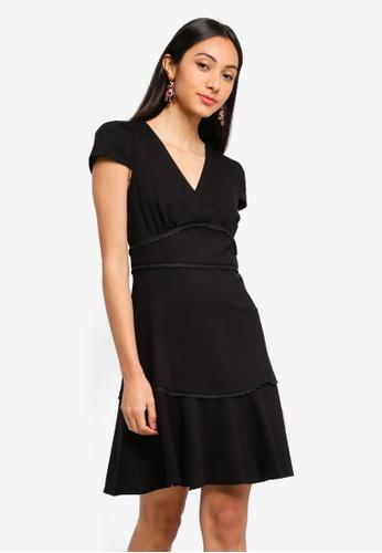 Forever New black Tasha Ponte Dress 065BDAA6E8B994GS_1