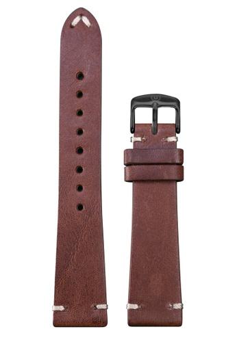 Undone brown Undone Brown Calf Leather Strap 20mm (Black Buckle) UN712AC2VEKCHK_1