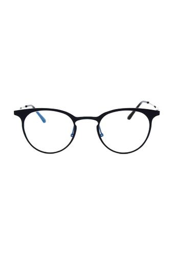 Kyfer's Eyewear & Essentials black Full Metal Studded Frame Glasses KY376AC05MYWSG_1
