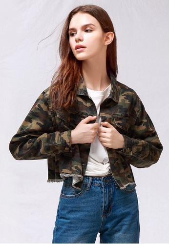 59d8a70738a80 London Rag green Camouflage Crop Jacket CA533AA079C7C6GS_1