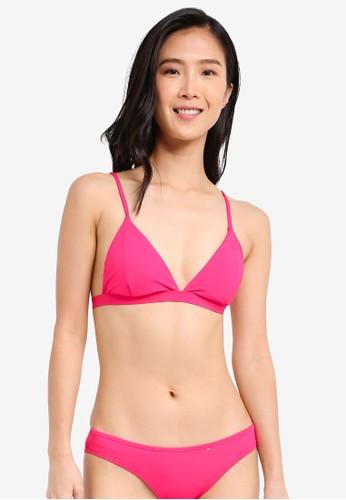 Cotton On Body pink Fixed Triangle Bikini Top CO561US0SII0MY_1