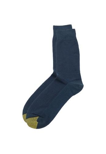 Gold Toe navy Crew Length Men's Mesh Dress Socks 6D013AA9C78508GS_1