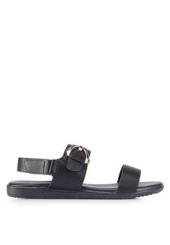 Bata 黑色 Bata Casual Sandals 90602SH25CFB87GS_1