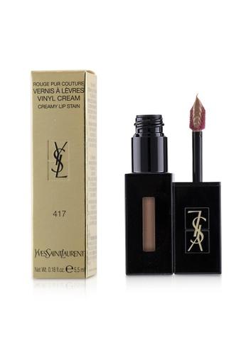 Yves Saint Laurent YVES SAINT LAURENT - Rouge Pur Couture Vernis A Levres Vinyl Cream Creamy Stain - # 417 Beige Bounce 5.5ml/0.18oz 4CC7BBE73324D7GS_1