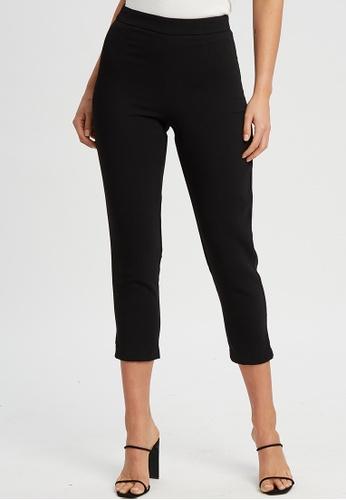 Tussah black Samira Pants D8386AAAB8EDBBGS_1