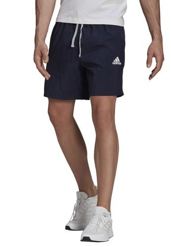 ADIDAS blue adidas essentials gradient logo short 7CDF3AAB8E2487GS_1