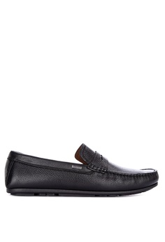3a3c1071110 Tommy Hilfiger black Classic Leather Penn Loafers 33FE9SH4A81326GS 1