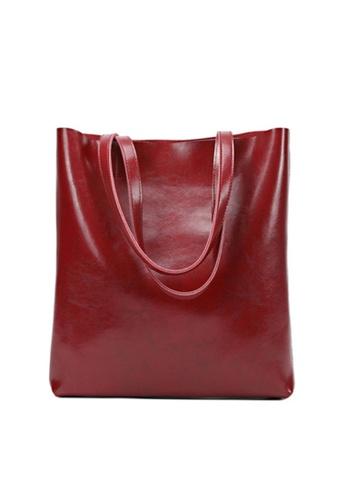 Twenty Eight Shoes 紅色 VANSA 簡約設計手挽袋 VBW-Hb8823 35E0CAC751DF66GS_1