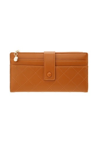 Tracey brown Tracey Small Button Long Wallet 0B303ACF48C845GS_1