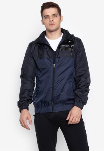 Shop Calvin Klein Color Block Hoodie Jacket Online on ZALORA Philippines 5b81a3bfa