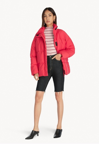Pomelo red Velcro Puffer Jacket - Red 77AB8AAAE70A58GS_1