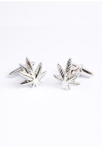 Splice Cufflinks silver Smokers Leaf Cufflinks SP744AC54OLDSG_1