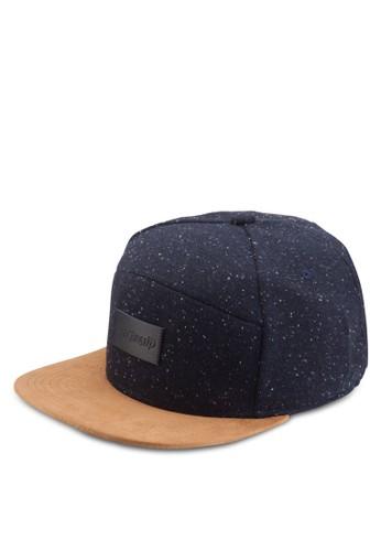 撞色潑墨esprit taiwan平沿帽, 飾品配件, 男裝