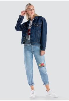 def4096e35df Levi s blue Womens Levi s® x Peanuts L S Ex-Boyfriend Trucker Jacket 29944