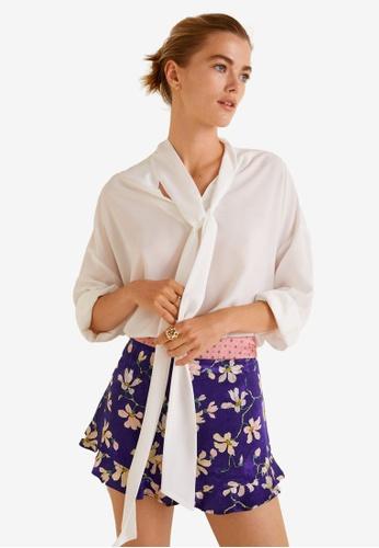 Mango purple Floral Print Shorts 7B2DEAA206A806GS_1