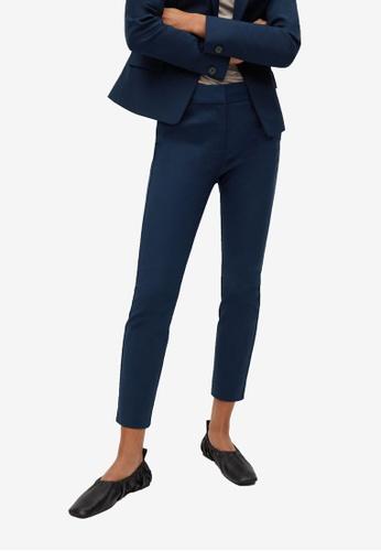 Mango blue Suit Slim-Fit Trousers DE322AA222FFD6GS_1