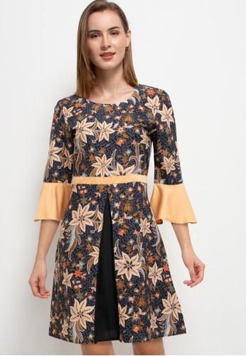 Rianty Batik black Dress Caldera 9FBAFAA445774AGS_1