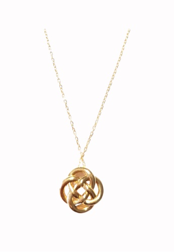 TOMEI gold [Online Exclusive] Ruyi Wishfulfilling Knot Necklace - Tomei Yellow Gold 999 (24K) BTN-5D-033 5C3C6ACB2131BAGS_1