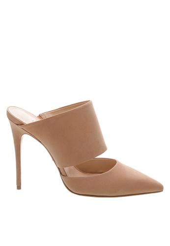 SCHUTZ beige Light Rose Pink Nubuck High Heel Mule - MELISSA [NEW PESSEGO] E8565SH95AC6D2GS_1
