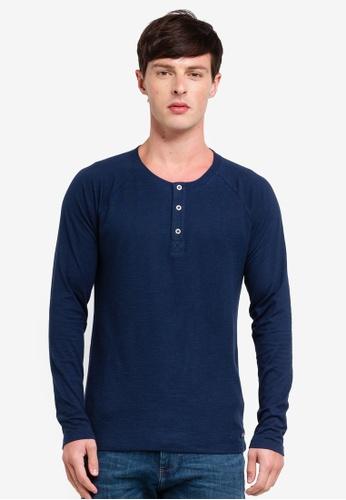 ESPRIT 海軍藍色 長袖T恤 4A1D0AAB451893GS_1