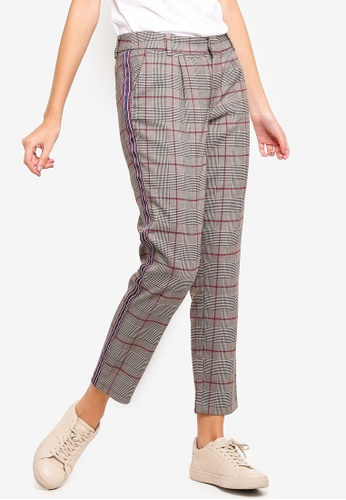 ONLY black Quincy Checkered Panel Pants 4F6D3AA237B2E7GS_1