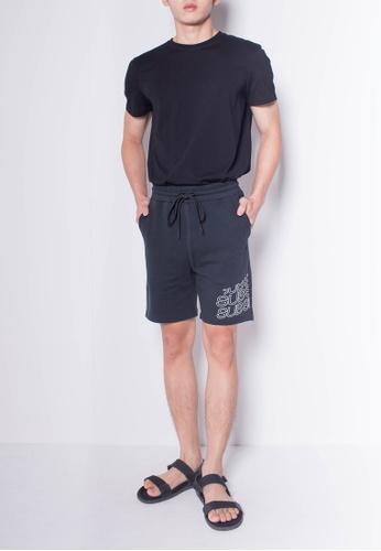 SUB black Men Knit Short Jogger 15DCFAAFF27B6EGS_1