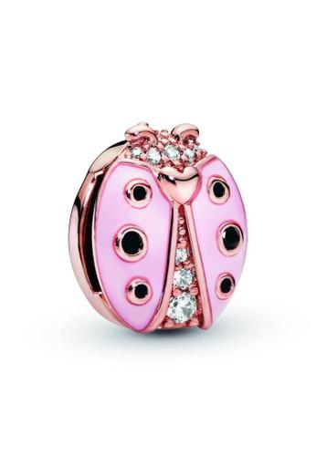 PANDORA gold Pandora Pink Ladybird Clip Charm 5AB1AAC6D5CDC8GS_1
