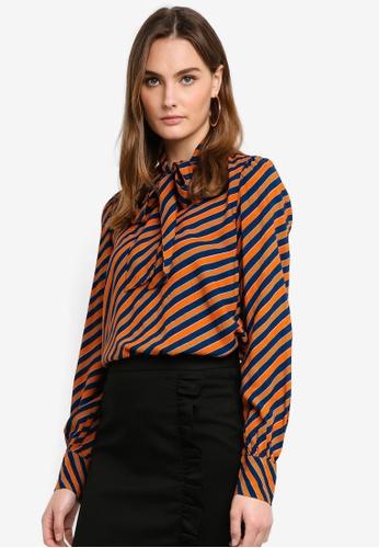 Vero Moda orange Wrill Bow Top 80499AAC506D3FGS_1