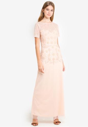 Little Mistress pink Pink Embellished Maxi Dress 9D873AA2876FE3GS_1
