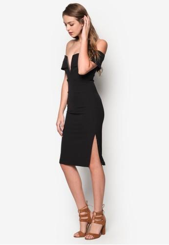 Caesprit地址ndice 低胸露肩洋裝, 服飾, 洋裝