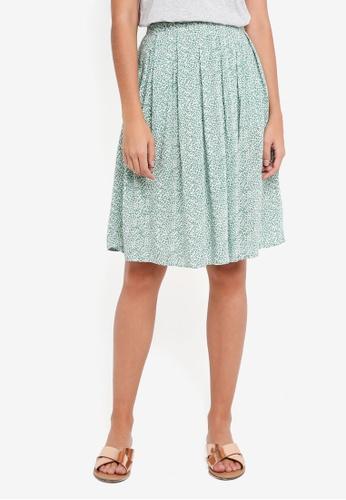 ICHI green Facova Skirt E2EF4AAE602452GS_1