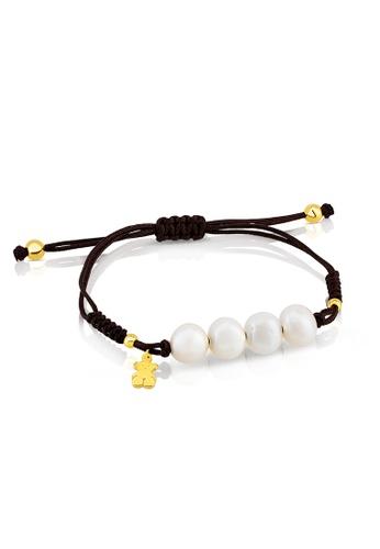 Tous black and white and gold TOUS Vermeil Silver Nudos Bracelet A0922ACA562C56GS_1