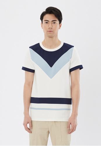 Flawless Flashbacks. white White Panelled T-shirt AEDABAAD10C633GS_1