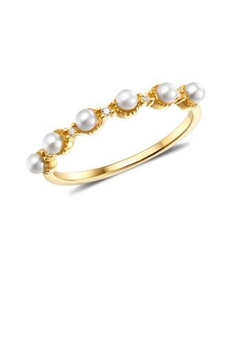 SUNSET gold Premium 14K Gold Pearl Ring 53AAFAC839405BGS_1