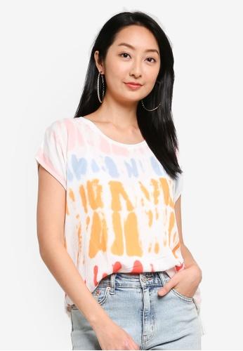 Desigual pink Tie Dye Printed Dolman Sleeves T-shirt EB419AABCE660CGS_1