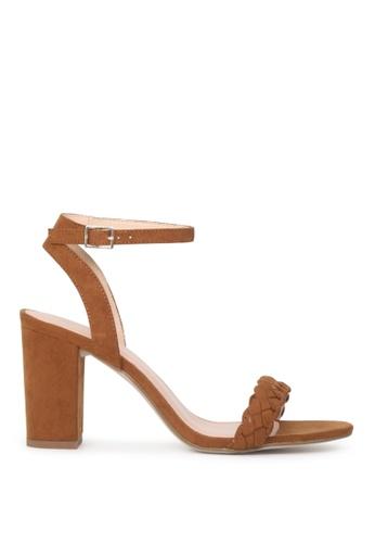 London Rag brown Sharon Ankle Strap Sandals 05046SHB5120E0GS_1