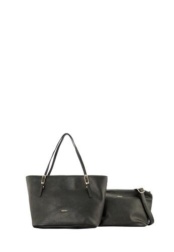 SEMBONIA black SEMBONIA Synthetic Leather Tote Bag (Black) SE598AC0T0AFMY_1