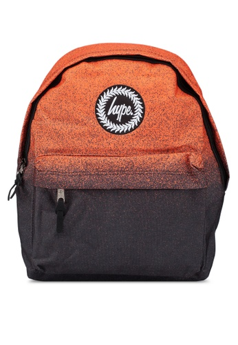 Just Hype black and orange Speckle Fade Backpack 7BB29AC6DA4746GS_1