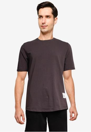 SPARROW GREEN 灰色 圓領T恤 08137AAAE1C1B6GS_1