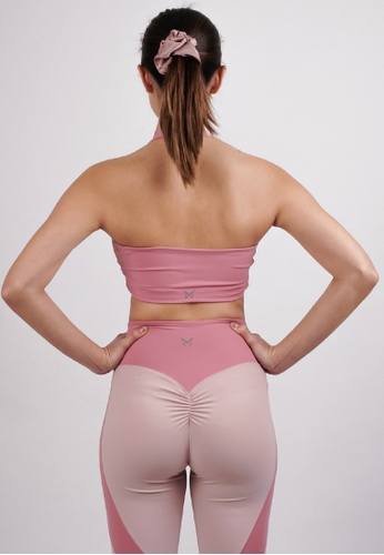 Metanoia The Label Self Love Pink Halter Sports Bra 1CDBBUSB1C4F43GS_1