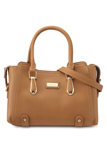 Perllini&Mel brown Faux Leather Satchel Top Handle Bag PE444AC0SIZGMY_1