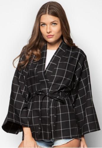 和風格紋外套, zalora 衣服評價服飾, 毛衣& 針織外套