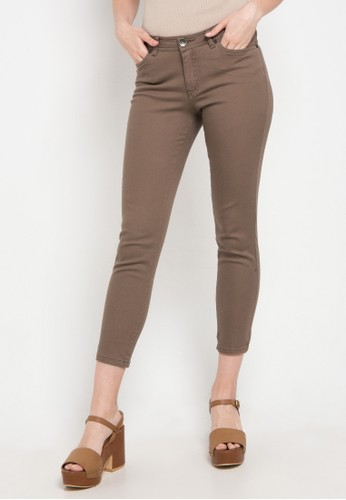 Exit brown Basic Chino Pants 80A60AA23C2CAEGS_1