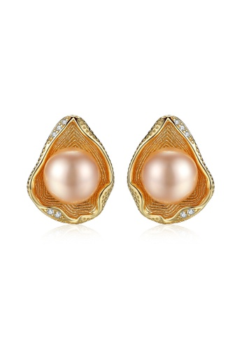 A.Excellence pink Premium Pink Pearl Elegant Earring 199ABAC6A5A0F4GS_1