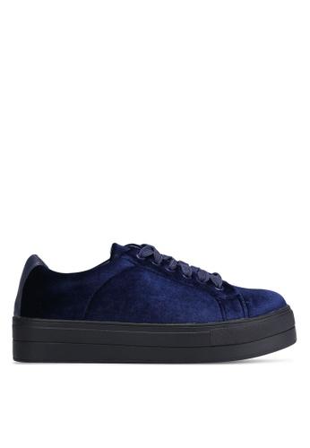 Something Borrowed 藍色 Velvet 花邊 運動鞋 69236SH49292EFGS_1
